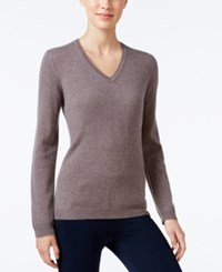 Charter Club Cashmere V Neck Sweater Only At Macy's 18 Colors Available Heather Mocha