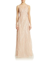 Basix Ii Beaded Swirl Gown Pink