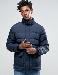 Timberland Down Quilted Mountain Jacket In Navy Dark Sapphire