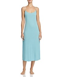 Natori Shangri La Knit Gown Blue Shell