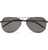 Oliver Peoples Kannon Aviator Style Metal Sunglasses Black