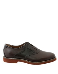 Bass Burlington Leather Two Tone Oxfords Brown