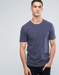 Only And Sons Crew Neck T Shirt With Fleck Navy