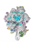 Anna Hu Haute Joaillerie Rose Ribbon Collection Rose Ribbon Ring In Paraiba Tourmaline Blue