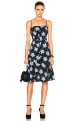 Suno Flare Hem Tank Dress In Blue Floral Blue Floral