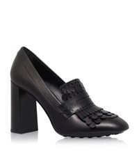 Tod's Gomma Fringed Leather Pumps Female Black