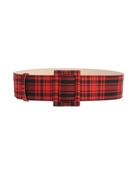 Fausto Puglisi Belts Red