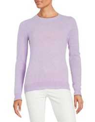 Lord And Taylor Crewneck Cashmere Sweater Iris Heather