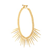 Juicy Couture Strike Pave Gold Spike Necklace