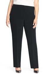 Plus Size Women's Louben Straight Leg Suit Pants Navy
