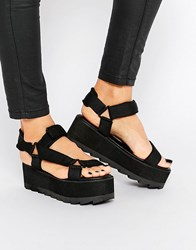 Y R U Yru Pulse Lo Flatform Sandals Black