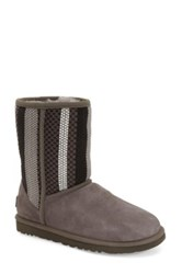 'Classic Short Woven' Uggpure Tm Wool Boot Gray