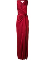 Diane Von Furstenberg V Neck Gown Red