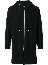 Cy Choi Long Zipped Hoodie Black
