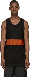 Cnc Costume National Black And Orange Mesh Layer Top