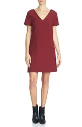 1.State Women's Short Sleeve V Neck Shift Dress
