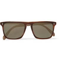 Oliver Peoples Bernado Square Frame Acetate Sunglasses Brown