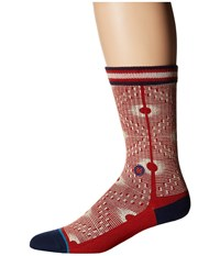 Stance Back Alley Red Men's Crew Cut Socks Shoes