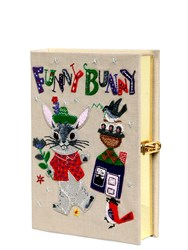 Olympia Le Tan Funny Bunny Embroidered Book Clutch