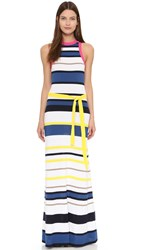 Dsquared Sleeveless Dress Camel Blue Yellow Navy