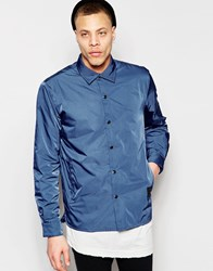 Cheap Monday Coach Jacket Shell Nylon In Blue Blue