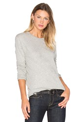 Enza Costa Cashmere Loose Crew Neck Top Gray