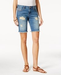 Jag Alex Ripped Dark Indigo Wash Denim Boyfriend Shorts