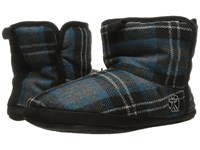 Bedroom Athletics Depp Airforce Blue Check Men's Slippers Multi