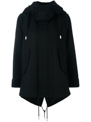 The Reracs Hooded Cape Coat Black