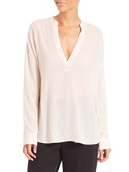 James Perse Cotton And Silk Blend Tunic Top Calico