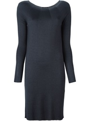 Roberto Collina Fine Knit Fitted Dress Grey
