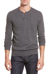 Bonobos Cashmere Henley Sweater Grey