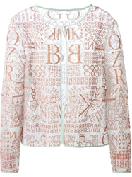 Mary Katrantzou 'Calligraphy' Sheer Cardigan