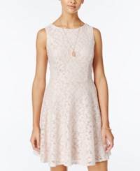 Speechless Juniors' Glittered Lace Dress Only At Macy's Blush