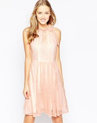 Traffic People Never Ending Story Halter Dress With Pleated Skirt Pink