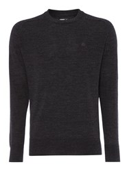 Army And Navy Hamilton Merino Crew Neck Jumper Charcoal Marl