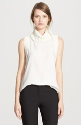 Elizabeth And James 'Tivi' Sleeveless Silk Top Ivory Ivory
