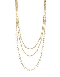 Bcbgeneration Pearl Multi Row Necklace Gold