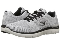 Skechers Flex Advantage 2.0 Missing Link White Black Men's Lace Up Casual Shoes