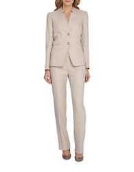 Tahari By Arthur S. Levine Starneck Jacket And Pant Suit Sand