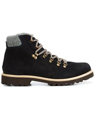 Eleventy Lace Up Hiking Boots Blue