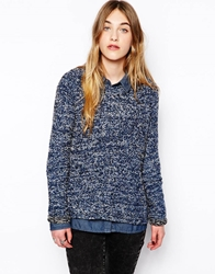 By Zoe Textured Jumper In Mixed Yarn Storm