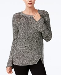 Bar Iii Bell Sleeve Sweater Only At Macy's Black Combo