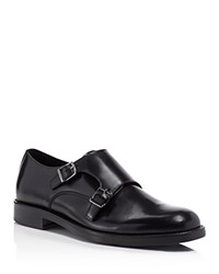 Theory Double Monk Strap Dress Shoes Black