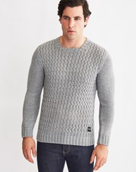 Only And Sons Mens Knitted Sweatshirt Grey