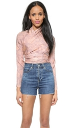 Jill Stuart Angel Wrap Top Blush