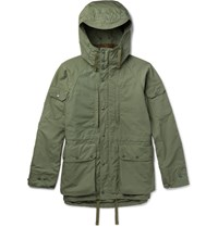Engineered Garments Garents Cotton Blend Ripstop Hooded Parka Green