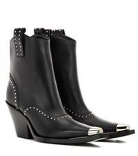 Givenchy Embellished Leather Cowboy Boots Black