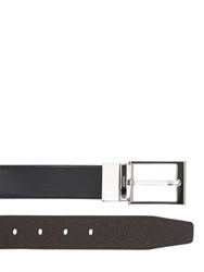Bally 35Mm Reversible Brushed Leather Belt