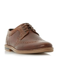 Howick Beets Casual Lace Up Brogue Shoes Tan
